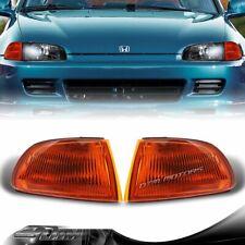For 1992-1995 Honda Civic 2/3DR JDM Amber Turn Signal Corner Lights Lamps LH+RH