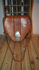 Four Winds Trading Co. BAG BRAIDED LEATHER BAG Handcrafted Leather Handbag