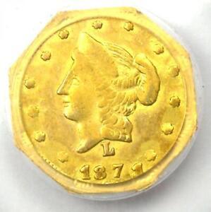 1871 Liberty California Gold Half Dollar 50C Coin BG-927 - Certified PCGS AU55