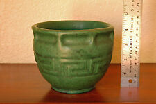 Stunning Antique Brush-McCoy Pottery Moss Green Ware Greek-Key Jardiniere