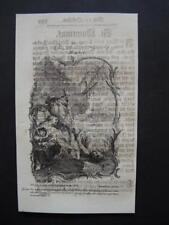 Icône Quintinus HOLY CARD, SANTINO, engraving, gravure - 16,5x10cm