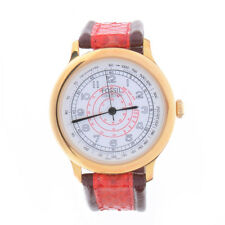 FOSSIL Collection Club Red Gold Tone Swirl Red White Dial Unisex 36mm