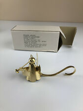 Vintage Brass Candle Snuffer Angel Playing Trumpet 1989