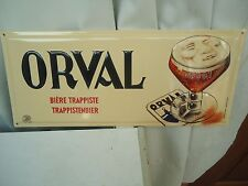 Orval : superbe plaque en métal
