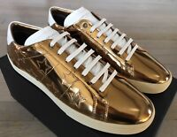 700$ Saint Laurent Golden Stars Leather Sneakers size US 13, Made in Italy