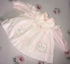 Vintage Baby Girl Tulip Apron Dress Lace Ruffle Floral Novelty Retro