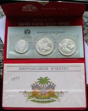 Haiti 1976 Pope Visit Mint Set of 3 Silver Coins,Proof