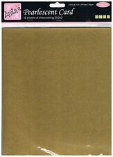 Anita's pack of 10 sheets of A4 250gsm pearlescent shimmering gold, card making
