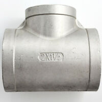"2""X1-1/2""X2"" Female Tee Threaded Reducer Pipe Fitting Stainless Steel 304 NPT"