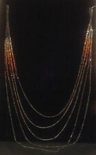 Kenneth Cole; Brass Hematite Rondelle Necklace, NEW*WITH*TAGS