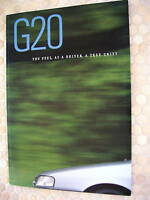 INFINITI OFFICIAL G20 PRESTIGE SALES BROCHURE 1991 LARGE USA EDITION
