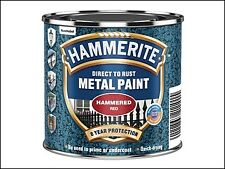 Hammerite Direct to Rust Hammered Finish Paint Red 250ml HMMHFR250