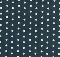 Baumwollstoff beschichtet - Leona - Punkte - weiß auf dunkelblau