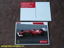 Fernando ALONSO - Ferrari/Santander PostKarte/card 10x15 cm