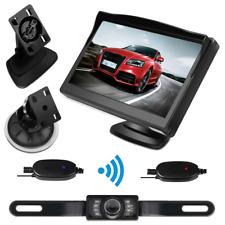 "5"" LCD Car Reverse Monitor + Wireless Parking IR Night Vision Backup Camera Set"