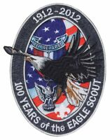 """BOY SCOUT CENTENNIAL BIG 6"""" FLYING EAGLE SCOUT 100 YEARS 6"""" JACKET EMBLEM PATCH"""