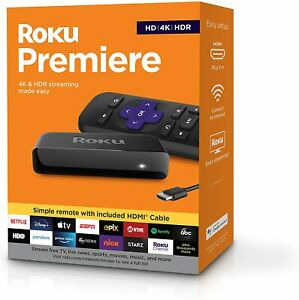 Roku Premiere | HD/4K/HDR Streaming Media Player, Simple Remote and Premium HDMI