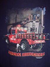 Redneck Firefighter black graphic L t shirt