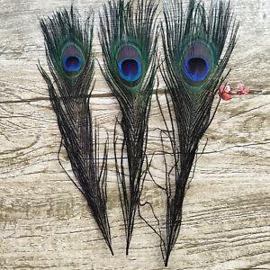 10-100pcs 25-30 CM/10-12 Inch Peacock Feathers Eyes Wedding Christmas Decoration