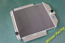 Aluminum Radiator Fit FORD F1-F8 TRUCK/PICKUP 48-52 W/CHEVY L6/V8 MOTOR SWAP A/T