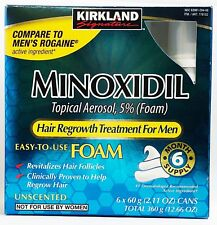 Kirkland Minoxidil Hair Loss Regrowth Treatment Topical Foam 6-month Mens