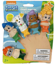 Bubble Guppies Bath Time Finger Puppets Set Of 5 Tub Water Toys New 2.5�