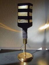 Designer Tischlampe, 24 Karat Blattgold, Tischleuchte, Handarbeit,beflockt, Gold
