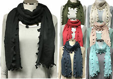 Unbranded Patternless Hijab Scarves & Shawls for Women