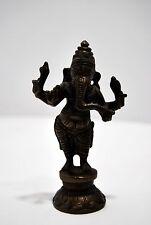 STATUETTE GANESH GANESHA éléphant bronze gravé fin XIXe XXe HINDUISM BOUDDHISME