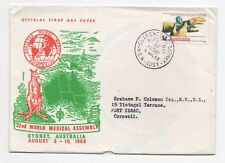 1968 AUSTRALIA First Day Cover WORLD MEDICAL ASSEMBLY SYDNEY To Port Isaac SG427
