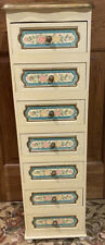 Beautiful Hand Painted  7 Drawer Unit