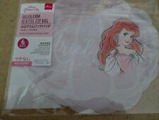Daiso / Disney - Ariel Hologram Plastic Zip Bags (6 pieces) - Nib
