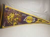 Lot Of 5 Wincraft Sports Pennants Lakers Kobe Lions Hornets Red Sox Cardinals