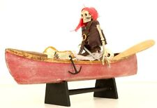 OOAK Handmade Pirates of the Caribean Skeleton in Wooden Boat