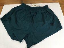 """Vintage 1980s Adidas Trefoil Swell Shell Shorts Mens 34"""" D6 Green Nylon OG"""