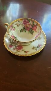 Floral Tea Cup with Saucer