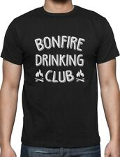 Bonfire Drinking Club Camper Gift Funny Camping T-Shirt Camping Lovers Gift