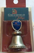 Collectible miniature Greenfield Village bell,new in original hard case, T283