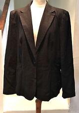 Linen Blend Blazer Plus Size Coats & Jackets for Women