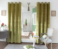Catherine Velvet Curtain:TOP QUALITY BLOCKOUT(MUSTARD GREEN)130(W)x230(L)