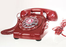 Vintage Cherry Red Rotary Dial Phone Professionally Restored Mint to Conditions