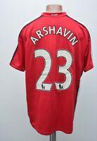 ARSENAL 2008/2009/2010 HOME FOOTBALL SHIRT JERSEY NIKE #23 ARSHAVIN SIZE L ADULT