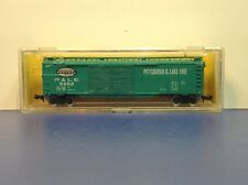 "N Scale ""Pittsburgh & Lake Erie"" PL&E 5802 50' Freight Train Box Car /Atlas"
