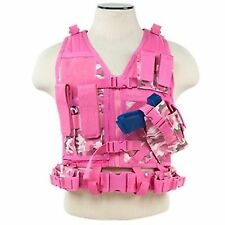 NcSTAR Pink Camo Youth Size X-Draw Gun Tactical Combat Airsoft Kids Hunting Vest