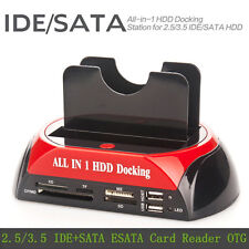 "All In 1 2.5"" 3.5""IDE SATA HDD Hard Drive Disk Clone Holder Dock Docking Station"