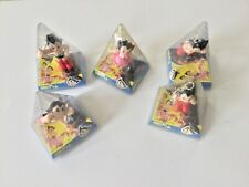 Astro Boy Mighty Atom Pyramid Keychains 3� Set of 5 Vintage
