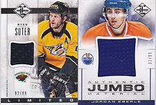 12-13 Limited Jordan Eberle /99 Jumbo Jersey Oilers 2012