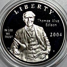 2004 U.S. Mint Thomas Edison Commemorative Proof Silver Dollar-90% Silver
