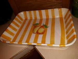 """Beautiful Vintage Los Angeles Pottery Large Baking  Dish 11-1/4"""" wide x 14"""""""