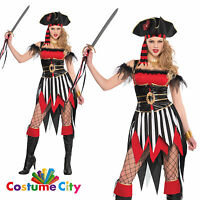 Womens Ladies Sexy Shipwreck Treasure Pirate Halloween Party Fancy Dress Costume